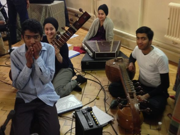 Raam with fellow SAMYO members during the CD recording