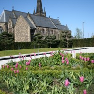 St. Francis Xavier Church from the Angel Field Gardens