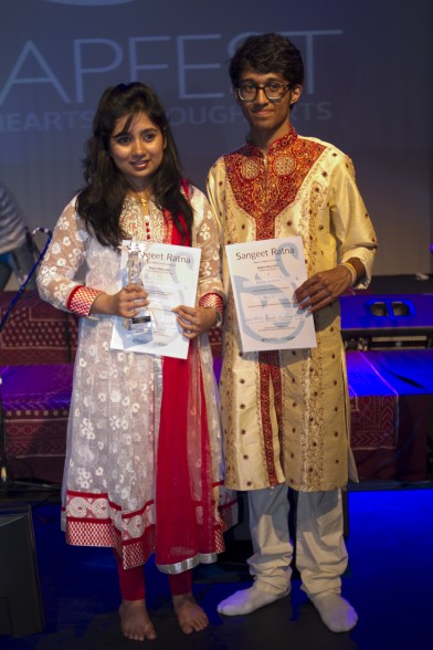 Sangeet Ratna Award Winner Angira Kotal and Runner-up Praveen Prathapan