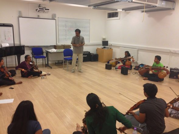 Lalgudi GJR Krishnan with the Samyo & Tarang Carnatic strings