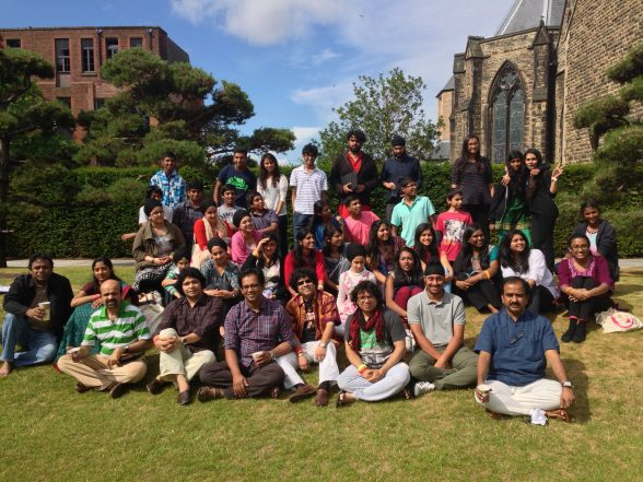 The Music India Family in the Capstone Garden