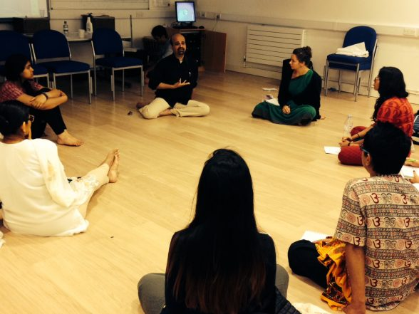 Anil Srinivasan working with Odissi Students