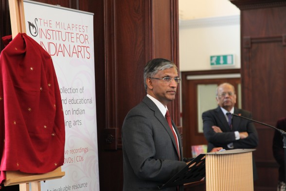 Professor Pillay addresses guests at the launch of MIIA