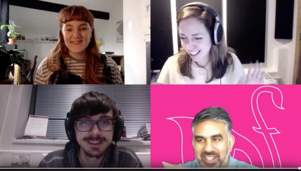 The Milap team on a Zoom call